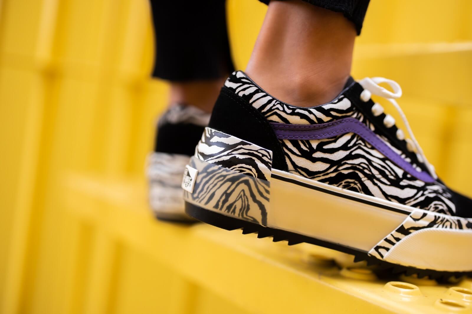 Vans Women's Old Skool Stacked Zebra