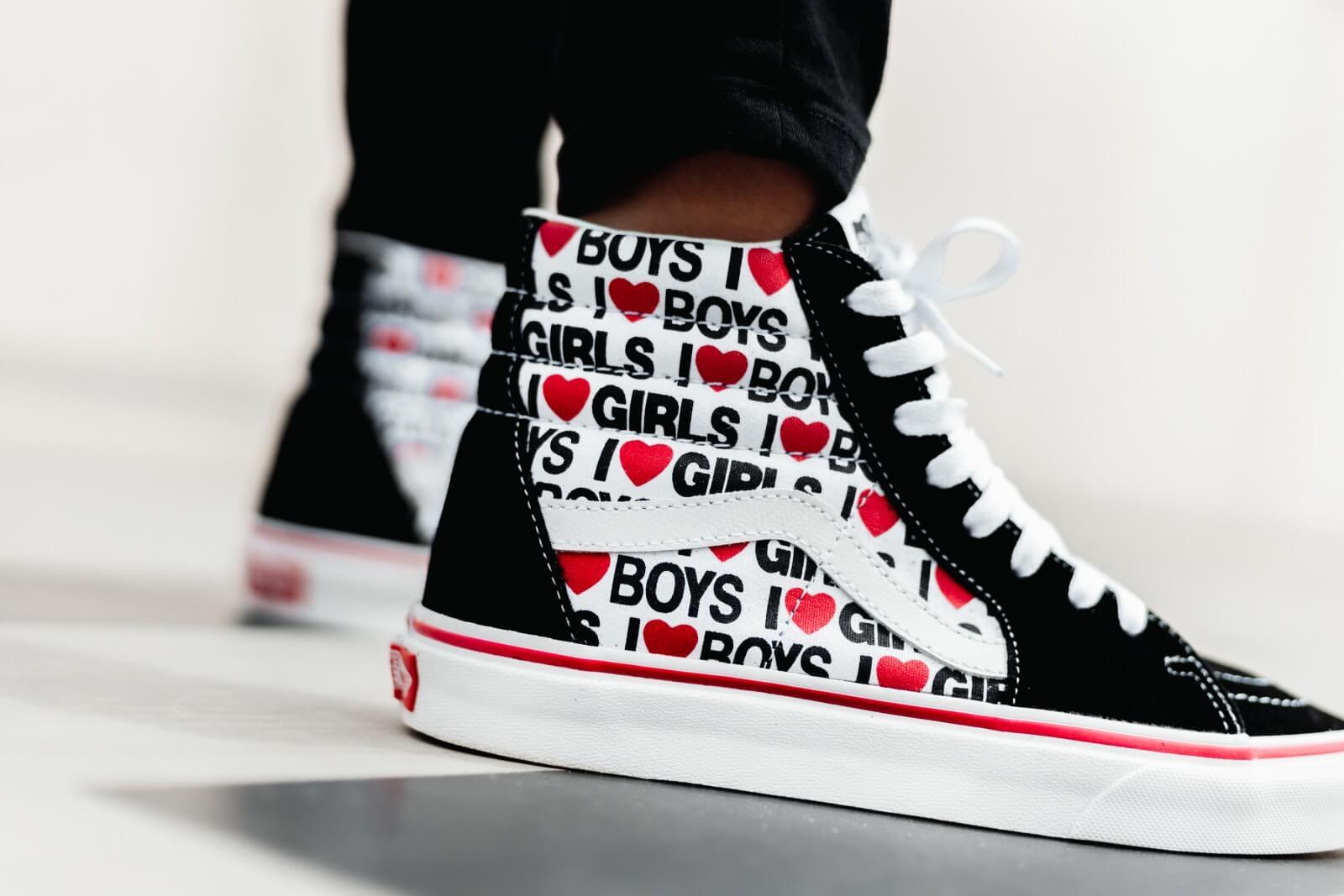 Vans Women's Sk8-Hi I Heart Black/True White
